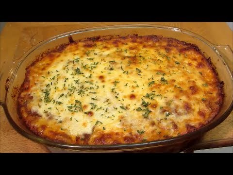 Beef and Noodle Casserole - Italian Pasta Bake - Recipe