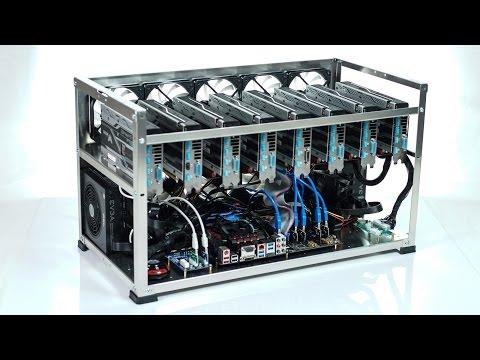 Crypto Maniac 8 GPU Ethereum, Zcash open mining case