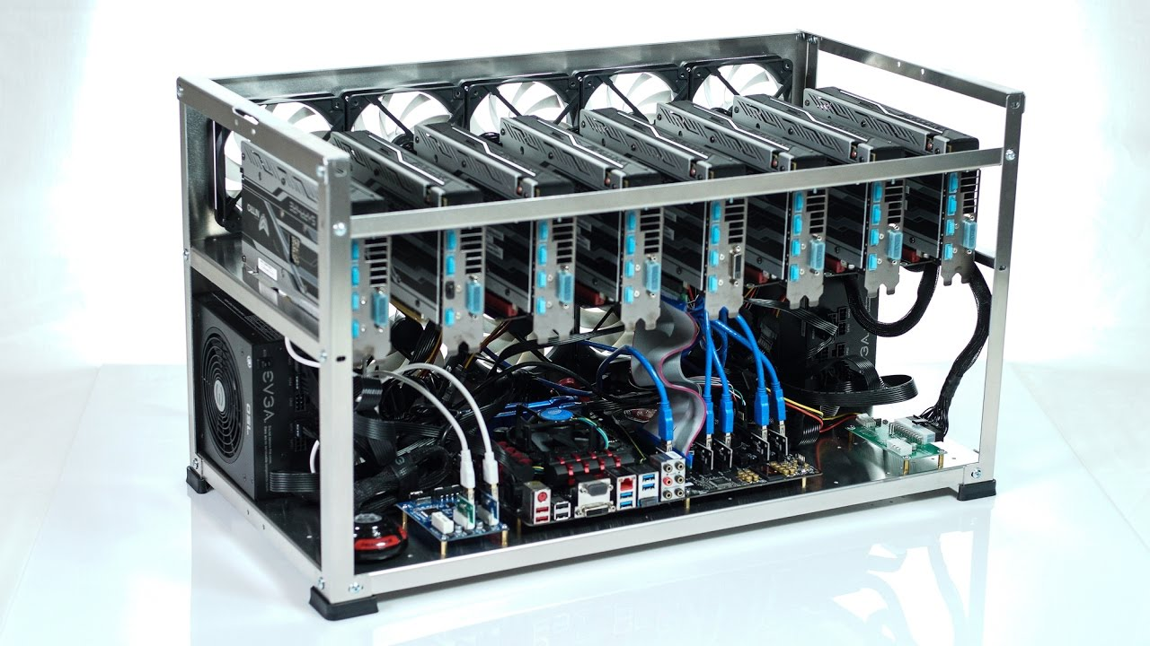 Crypto Maniac 8 Gpu Ethereum Zcash Open Mining Case Youtube