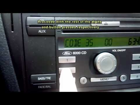 How to: Ford 6000 CD, Entering Key Code, The Idiot's Guide by VladanMovies