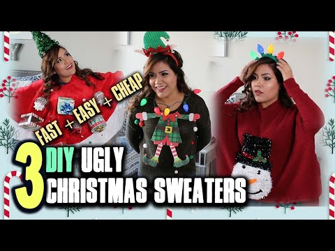 DIY Ugly Christmas Sweater LAST MINUTE Ideas (2019 FAST + EASY + CHEAP)