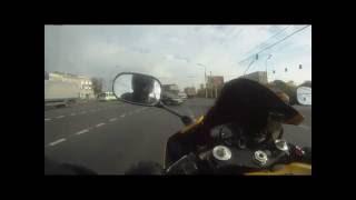 Безумная гонка на мотоцикле по Москве
