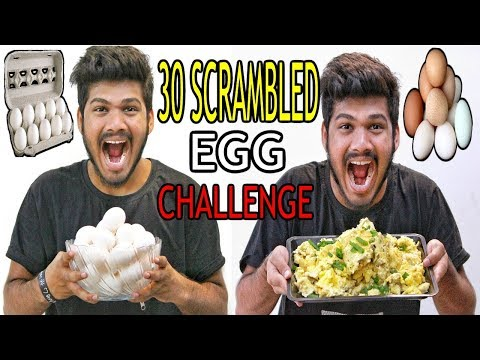 30 Scrambled Egg Challenge | Egg Eating Challenge | Food Challenge India (Episode-31)