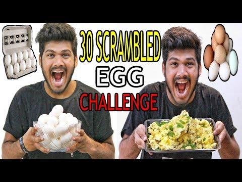 30 Scrambled Egg Challenge   Egg Eating Challenge   Food Challenge India (Episode-31)
