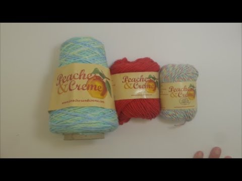 Review Of Peaches Creme Yarn Youtube