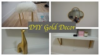 DIY Gold Decor | Moving Vlog 004
