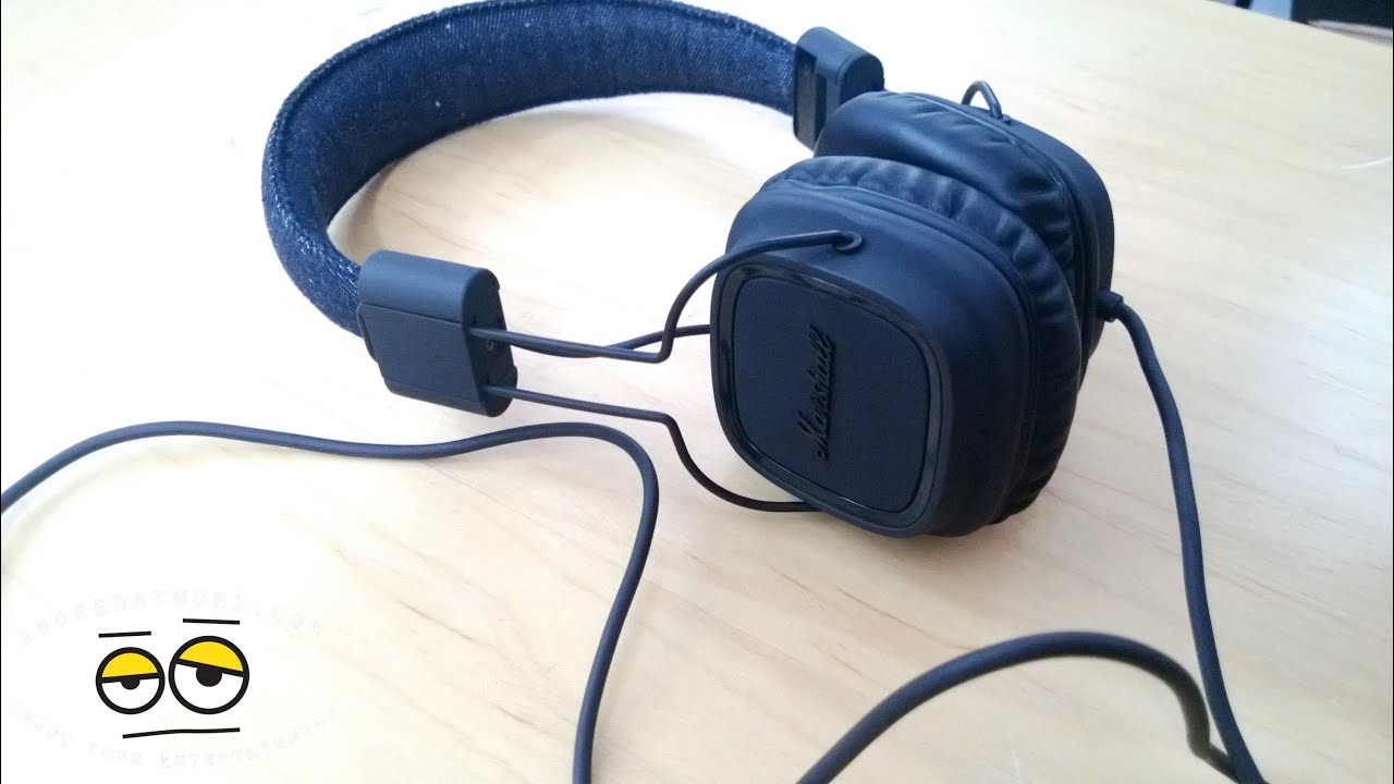 Marshall Major Pitch Black Headphone Review YouTube