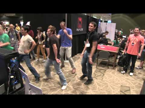 HD PAX Prime 2012  NZXT and Jason Wishnov aka Nocturne from LoL Lead Gangnam Style Dance Off!
