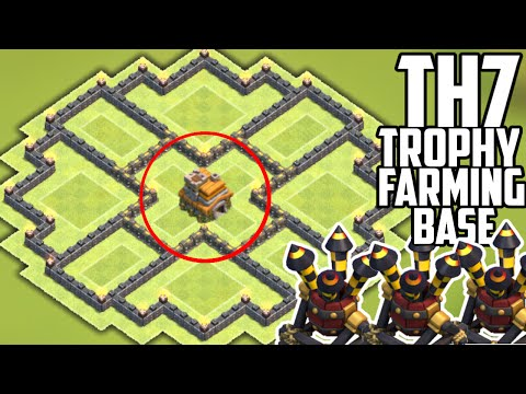NEW UPDATE TH7 HYBRID BASE! 3 AIR DEFENSES - Clash of Clans TH7 Farming/Trophy-Anti Giant/Healer
