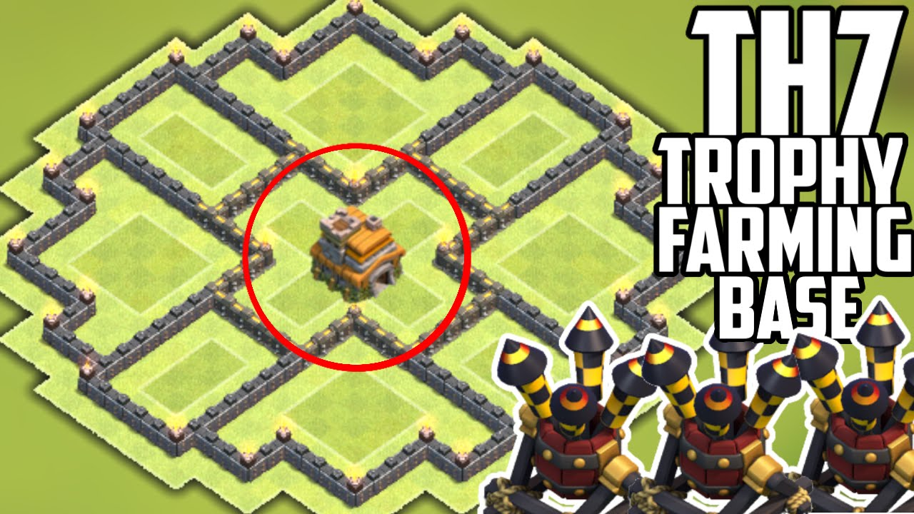 NEW UPDATE TH7 HYBRID BASE! 3 AIR DEFENSES - Clash of ...