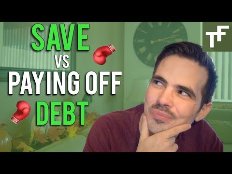 Saving Money Versus Paying Off Debt