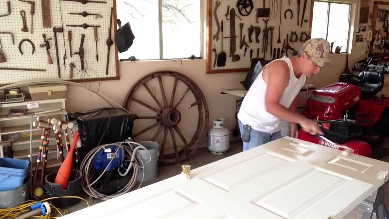 How To how to paint a door with a roller images : Burleson Handyman Shows you How To Paint A Door With A Foam Roller ...