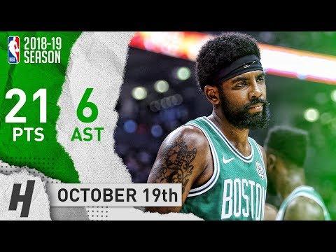 Kyrie Irving Full Highlights Celtics vs Raptors 2018.10.19 - 21 Points, 6 Ast