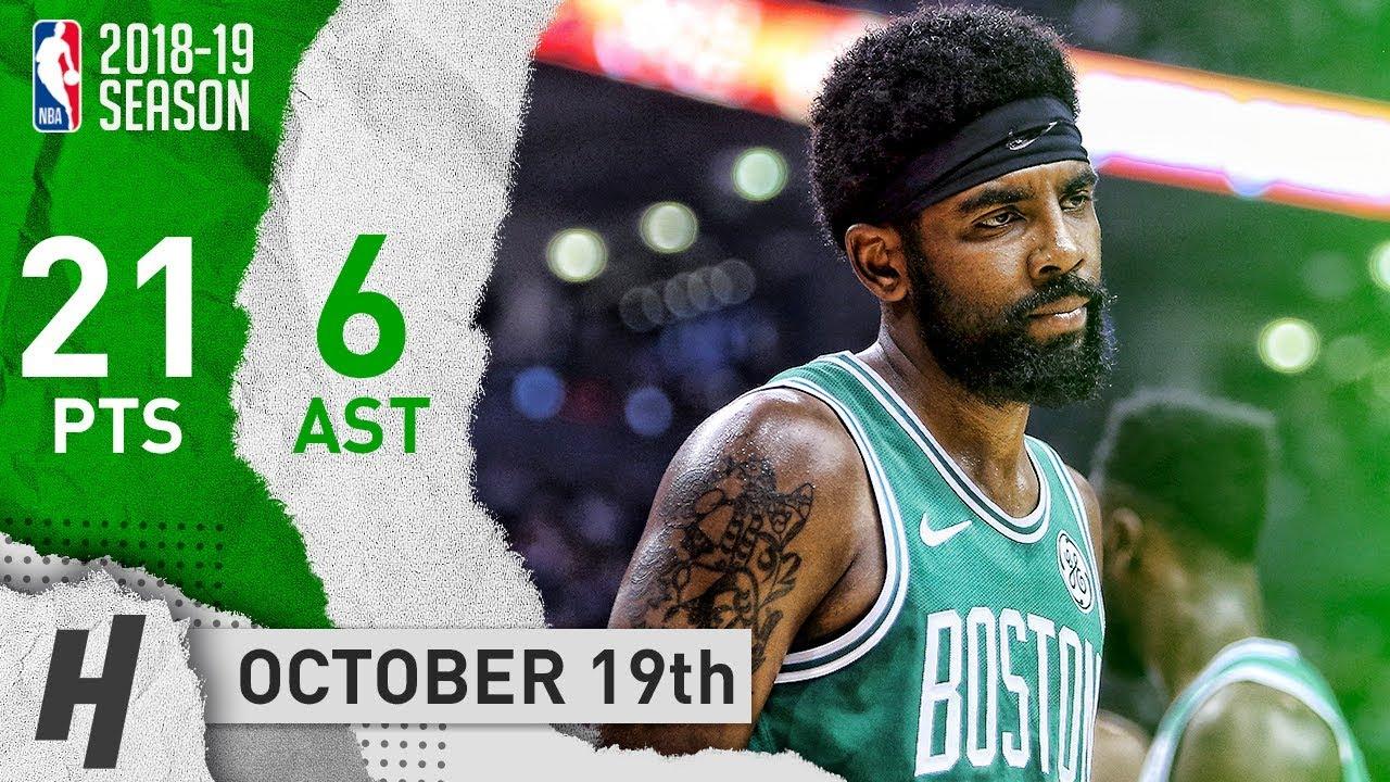 Kyrie Irving Full Highlights Celtics vs Raptors 2018.10.19 - 21 Points a690e6ebb