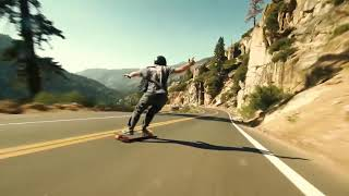 Reckless Skateboarding Down Nevada Mountains