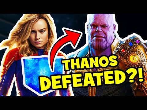 CAPTAIN MARVEL & Thanos Infinity Stone AVENGERS ENDGAME Theory