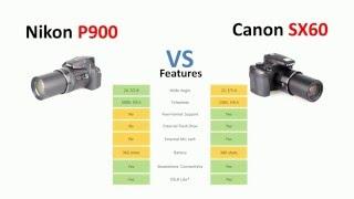 Nikon P900 vs Canon SX60 HS
