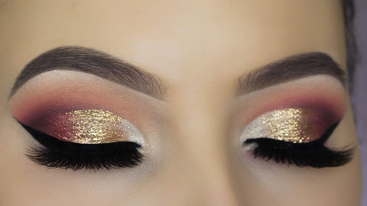 Glitter Glam Eye Makeup Tutorial Youtube