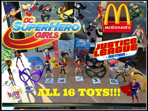 MCDONALDS DC SuperHero Girls & Justice League Action Happy Meal Toys! Sept 2016 All 16 Toys! - 동영상