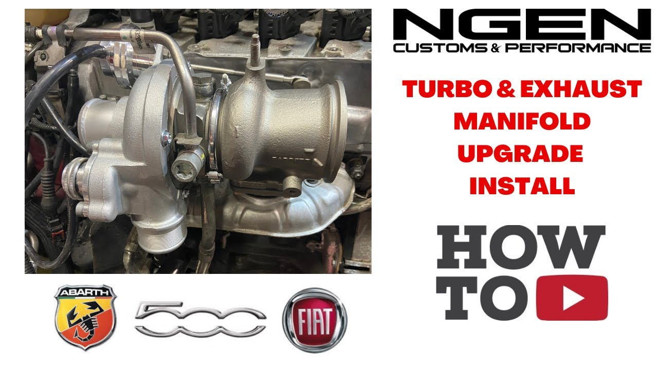 turbo exhaust manifold upgrade install on a fiat 500 abarth how to