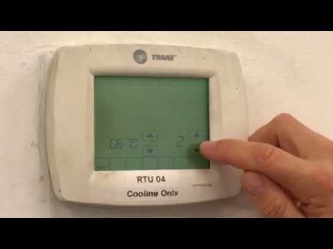 Locking Screen On Honeywell Thermostat Youtube