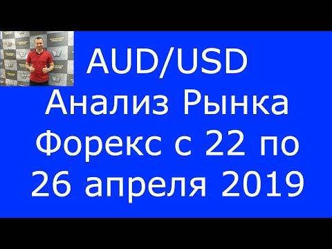 AUD/USD - Еженедельный Анализ Рынка #Форекс c 22 по 26.04.2019. Анализ Форекс.