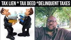 Tax Deed Auction  Tax Lien Auction  Delinquent Property Taxes