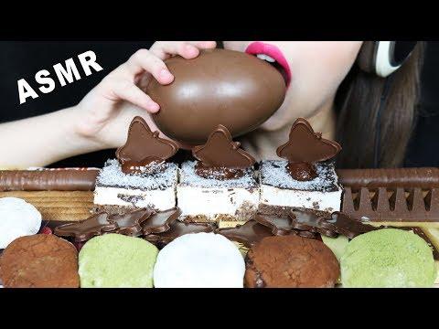 asmr-maxi-chocolate-egg,-nutella-mochi,-popular-chocolate-bars-(eating-sounds)-no-talking