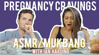 Pregnancy Cravings ASMR / Mukbang with Ian Harding | Shay Mitchell