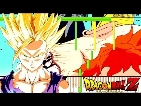 Gohan Angers - Dragon Ball Z OST , Perfect Cell Kills Android 16 (Piano Cover Tutorial) Remix