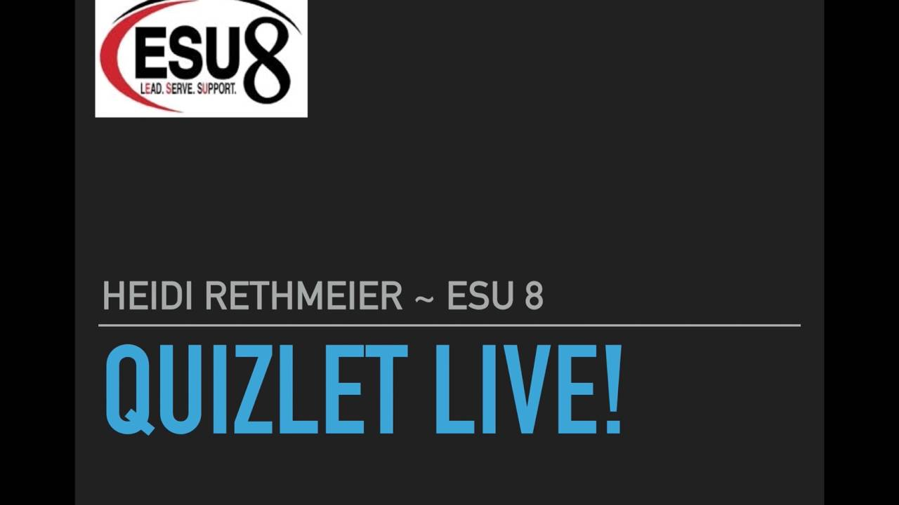 Quizlet Live Webinar - YouTube