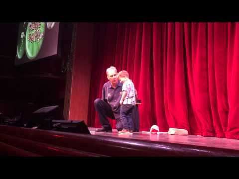 Chase on Stage with Magic Dave 12 25 14