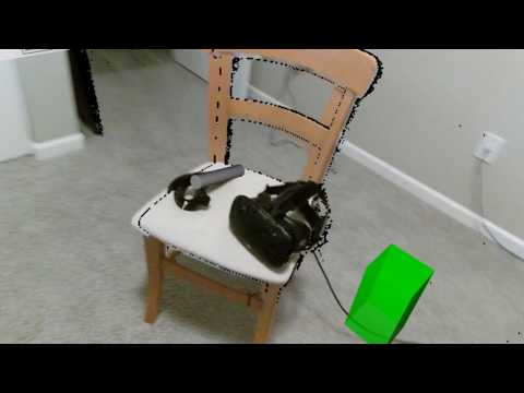 Mixed Reality Recording with Moving 3D Camera (First Attempt)
