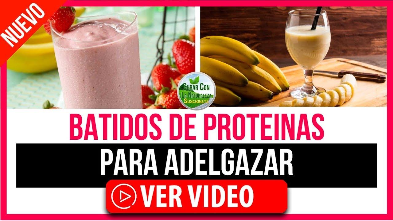 Batidos proteínas naturales para adelgazar