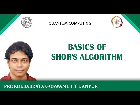 lecture 9 - Basics of Shor's algorithm