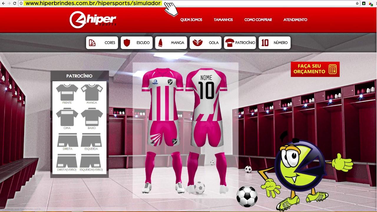 a785819af2 Conheça o Simulador de Uniformes Hiper Sports - YouTube