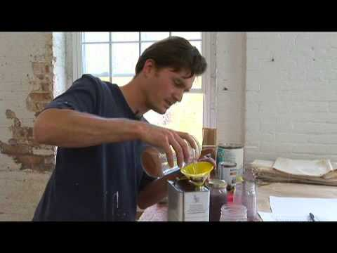Expressionist Portrait Painting: Reusing Turpentine