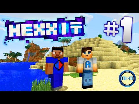 "Minecraft Mods - Hexxit Ep 1 - ""VOLCANO DIAMONDS!"" - w/ Ali-A & Vikk"