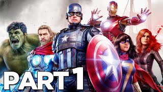 MARVEL'S AVENGERS Walkthrough Gameplay Part 1 - INTRO (2020 GAME)