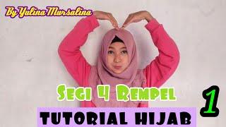 TUTORIAL HIJAB SEGIEMPAT REMPEL PART 1