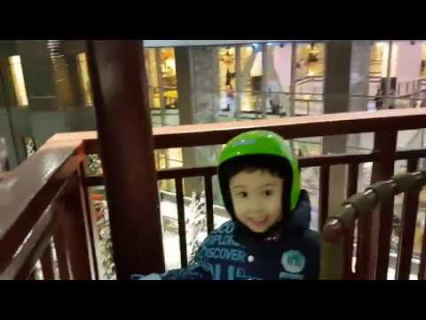 Ski Dubai 2019, Indoor Snow Park, #Ski #Dubai Ice Slides and Penguin show for Kids #kids #rhystv