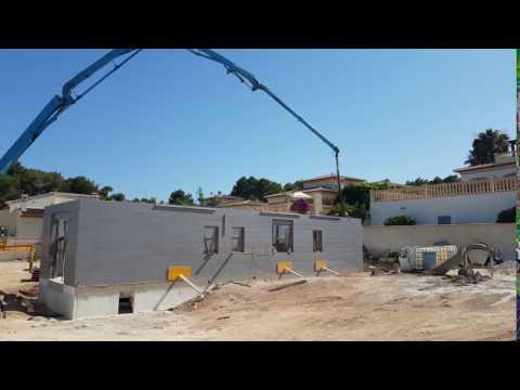 StyroStone ICF concrete pour Moraira1