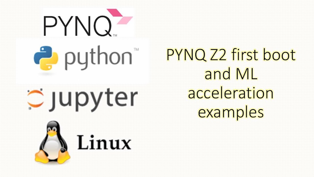 PYNQ Z2 First Boot and ML acceleration examples