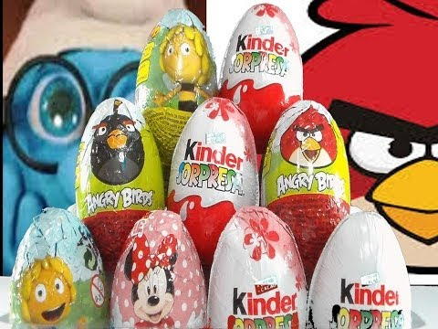 KINDER SURPRISE EGGS.DISNEY PRINCESS,ANGRY BIRDS,MINNIE MOUSE.HUEVOS KINDER ANGRY BIRDS,MINNIE MOUSE Videos De Viajes