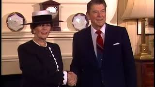 President Reagan at Number 10 Downing Street in London on June 2, 1988