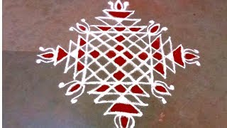 Puratasi madam special Padi Kolam | Easy Padi Kolam with dots and Kaavi | Pandaga Muggulu