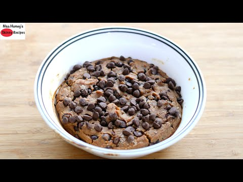 healthy-vegan-chocolate-chips-cake-for-two---stay-at-home-cooking---dairy-free-&-eggless-cake-recipe