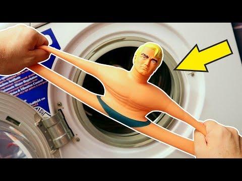Что если бросить Стретч Армстронга в Стиральную машину? alex boyko