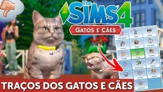 traços dos pets the sims 4 gatos e cães