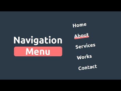 Awesome Navigation Menu Using HTML CSS & jQuery